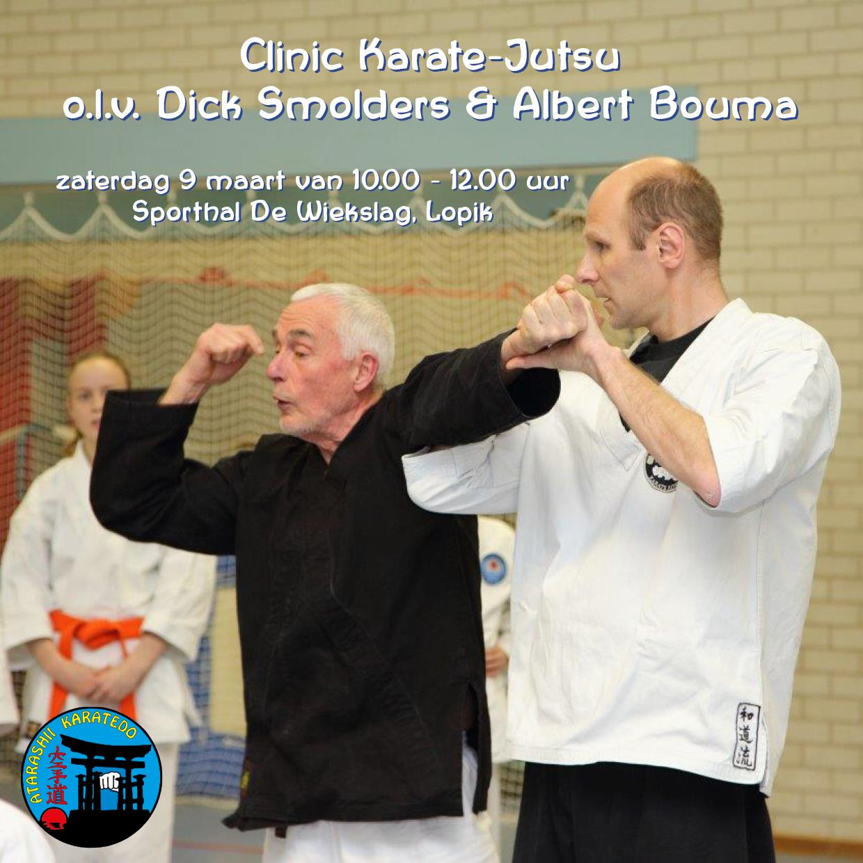 Clinic Karate Jutsu op 9 maart: geef je nu op!